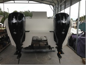 Here You can see the outboards after they are installed.