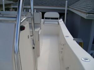 Final Product. Here you can see the amount of room to walk around this center console catamaran.