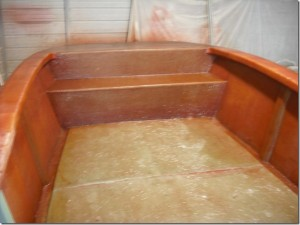 Here is the Boat in the mold after the deck was put on.